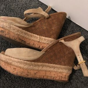 Gucci platform cork sandals